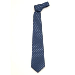 Cravatta fantasia geometrica blu oltremare