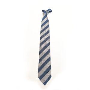Cravatta a fantasia jeans blu argento