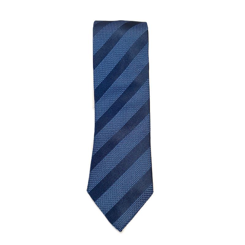 nuovi arrivi ottima vestibilità prezzi incredibili Cravatta seta rigata tono su tono blu - Cattaneo Cravatte
