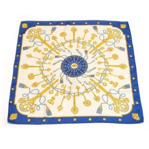 foulard a fantasia chiave giallo blu