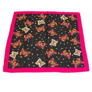 Foulard a fantasia farfalle rosa
